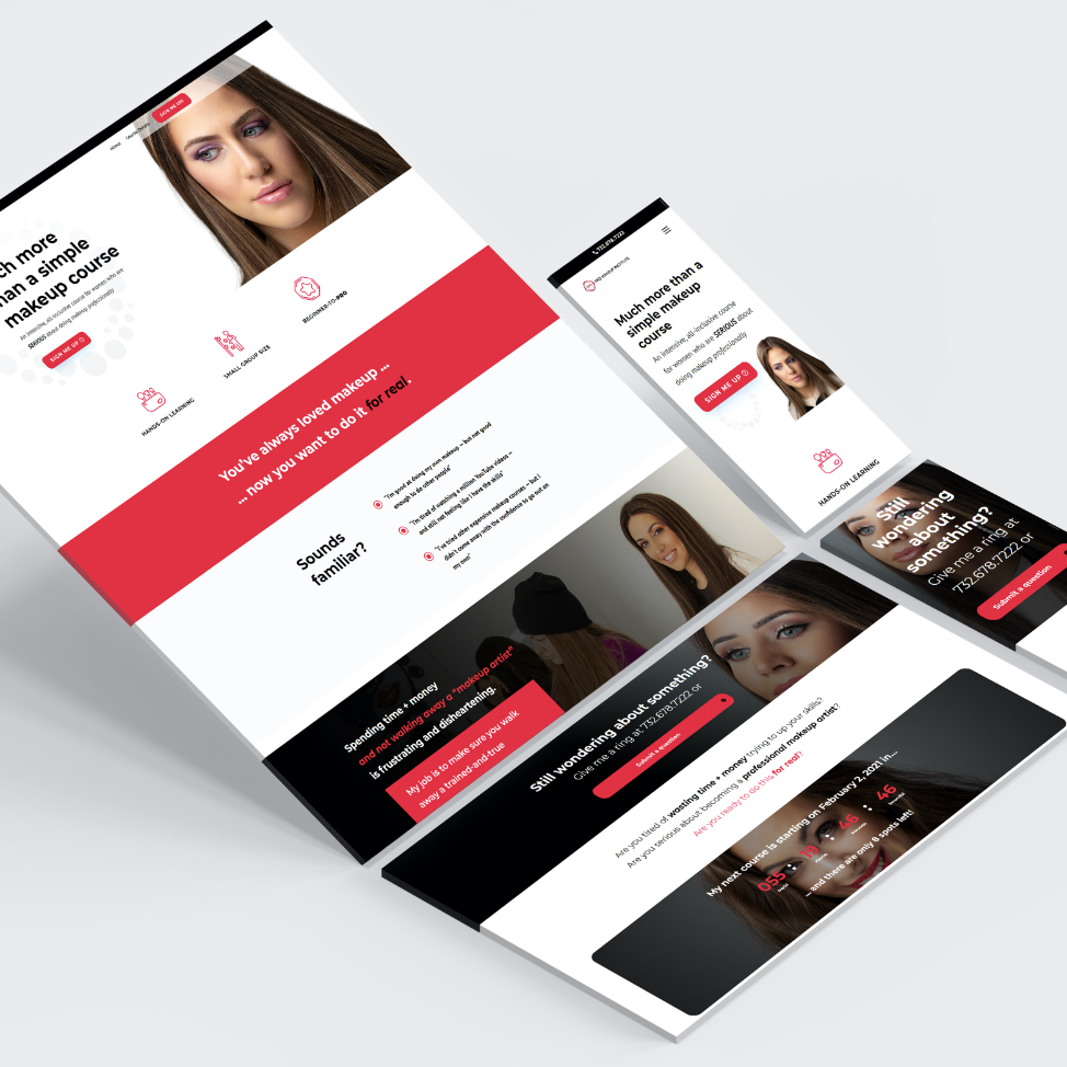 Purple Pixel Design Group - design agency - PMI website mockup - create designs