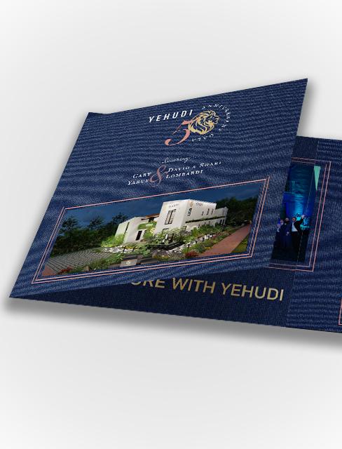 Purple Pixel Design Group - design agency - Yehudi Dinner invitation design - agency creative