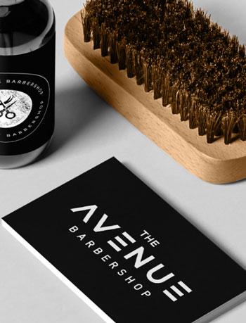 Purple Pixel Design Group - brand logo - the avenue barbershop branding - branding best