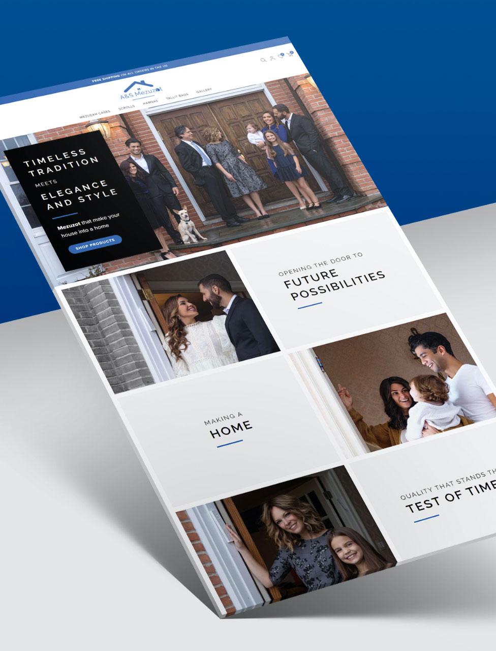 Purple Pixel Design Group - brand website - A and S Mezuzot website - ecommerce web design agency