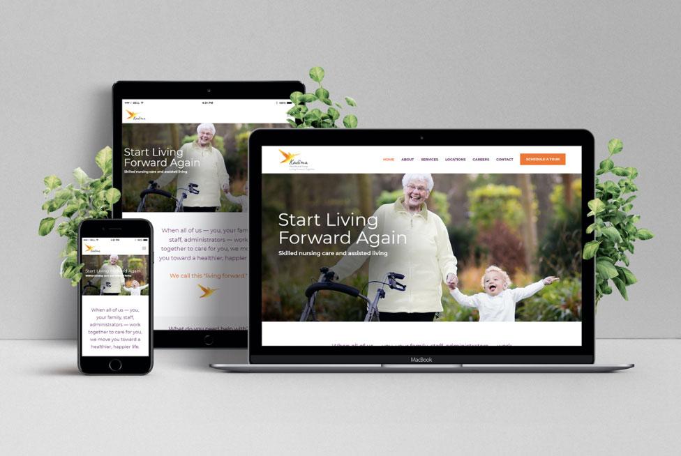 Purple Pixel Design Group - brand website - Kadima Healthcare website - web design agency