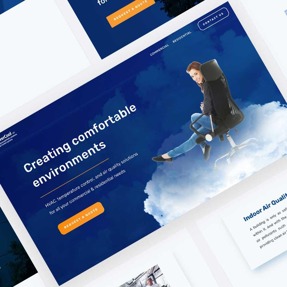 Purple Pixel Design Group - brand website - Overcool website - web design agency