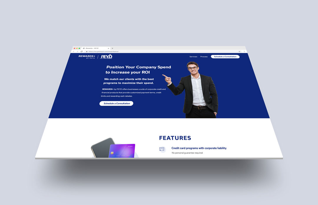 Purple Pixel Design Group - brand website - Rewards Plus by PEYD website - web design agency