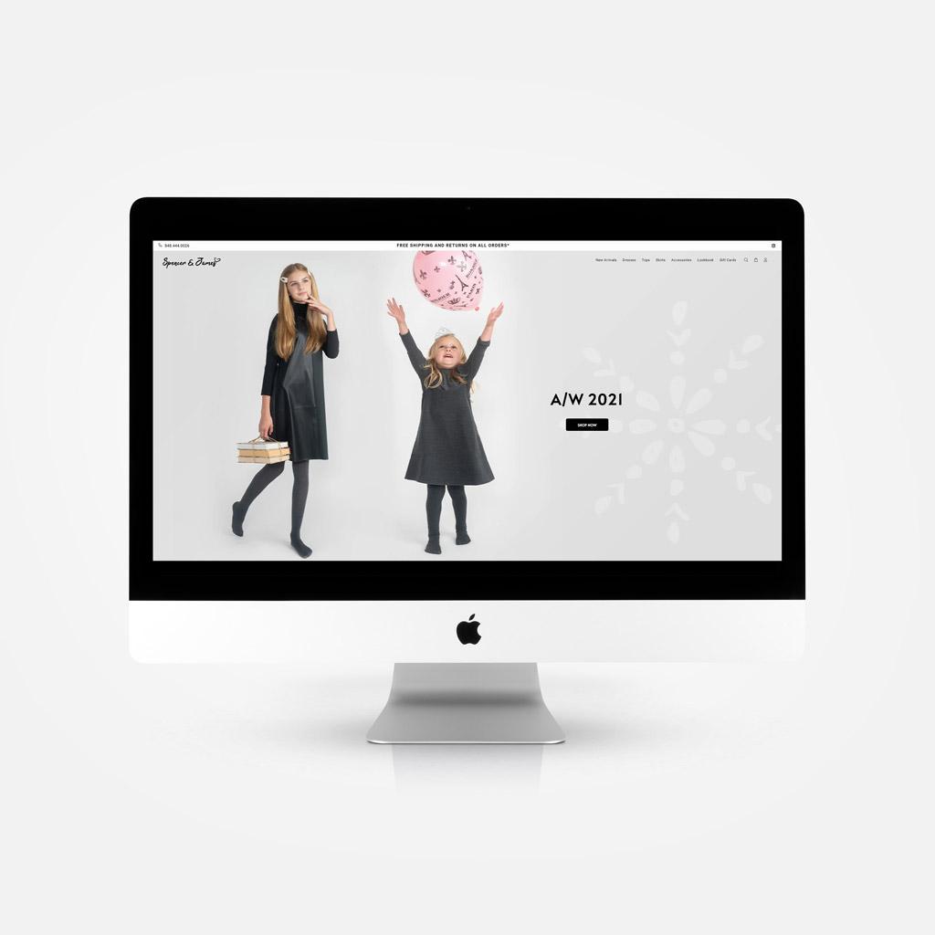 Purple Pixel Design Group - brand website - Spencer and James website - ecommerce web design agency