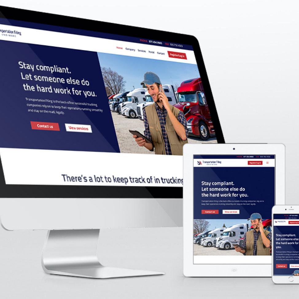 Purple Pixel Design Group - brand website - Transportation Filing website - web design agency